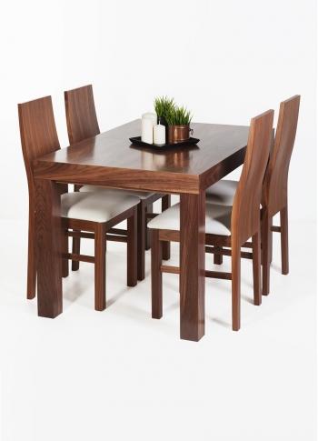 Zestaw stół orzech amerykański + 4 krzesła
